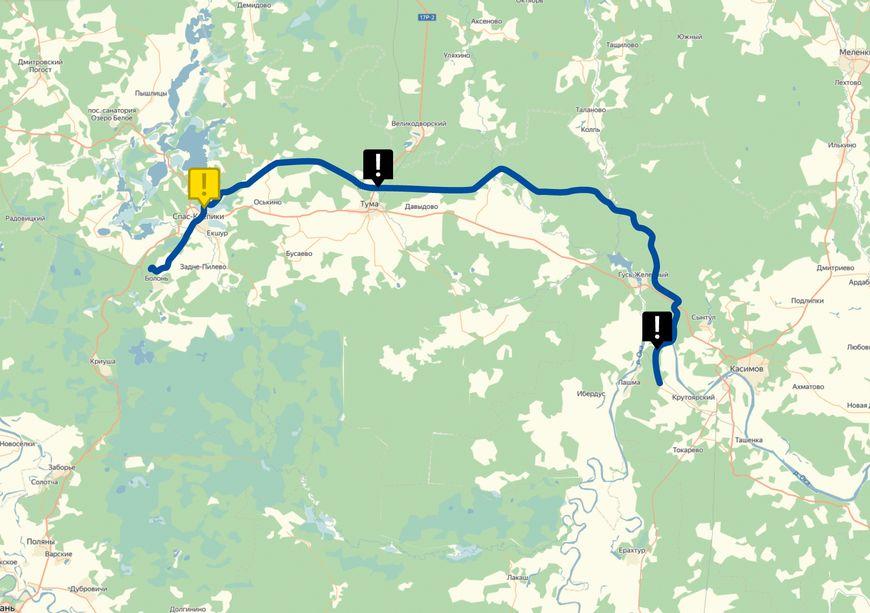 Карта обследования газопровода