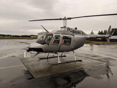 Установка ALMA G4 на вертолете типа Bell Jet Ranger