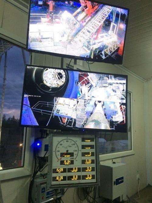 Монитор видеонаблюдения. Ночное время