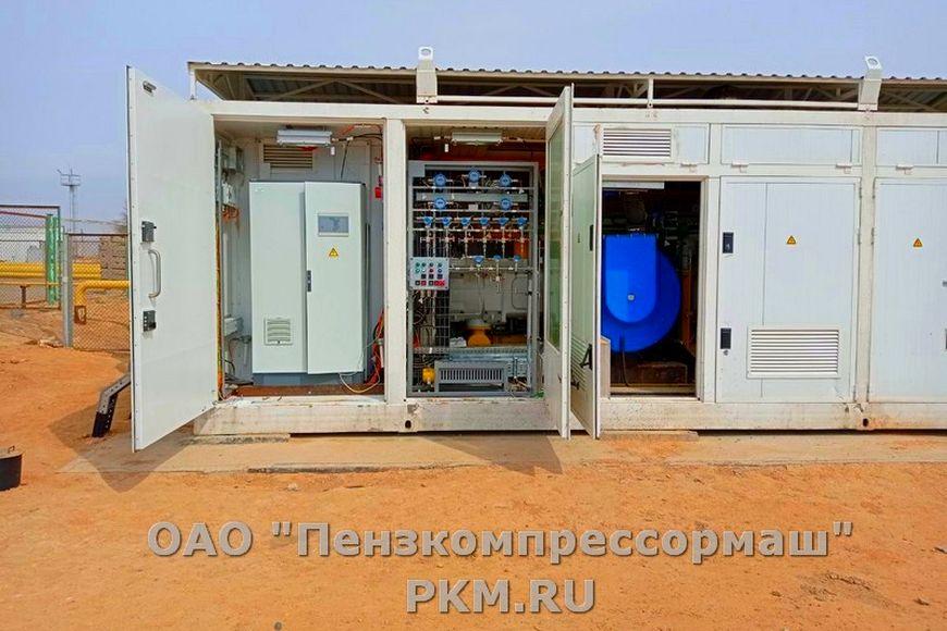 Компрессорная станция для компримирования попутного нефтяного газа на базе компрессора 2О4