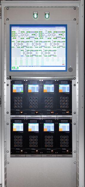 Шкаф системы контроля вибрации на основе аппаратуры ЦВА с АРМ оператора