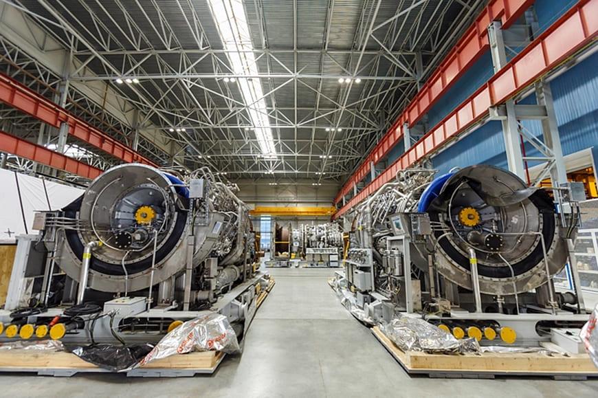 ГТУ 32 МВт на производственной площадке Невского завода