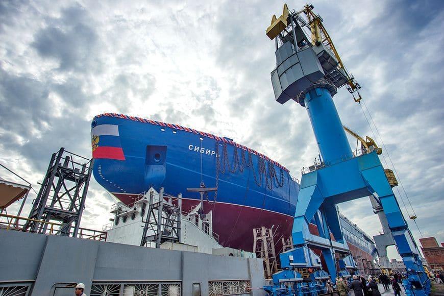 Спуск на воду атомного ледокола «Сибирь» – второго ледокола серии ЛК-60Я