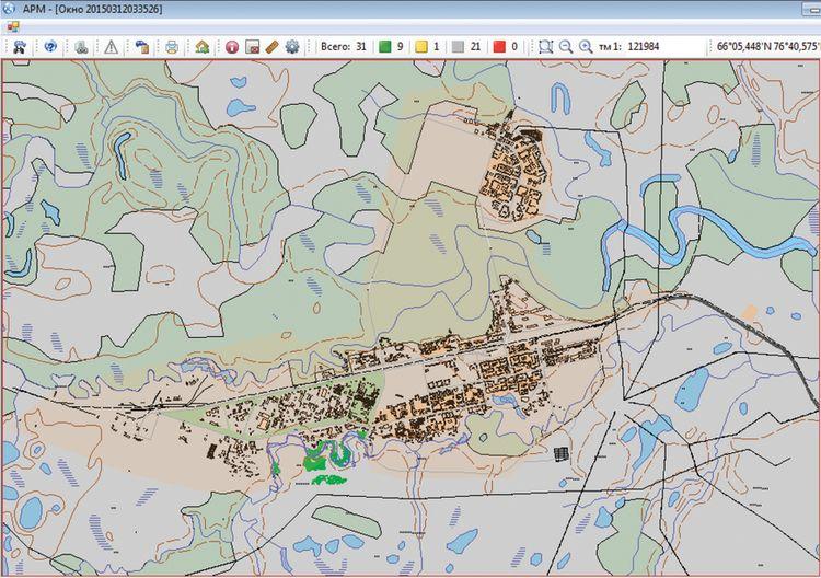Цифровая карта г. Новый Уренгой