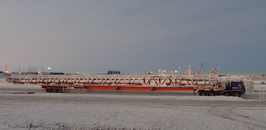 Арктика. Полуприцеп SPECPRICEP с длиной раздвижения более 40 метров