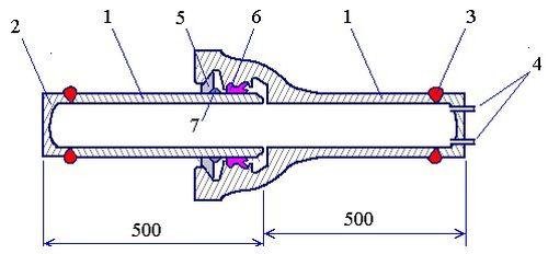 Образец для гидроиспытаний соединения «RJ»