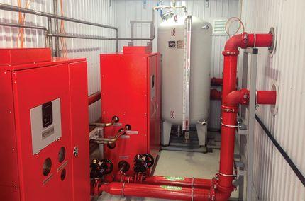 Примеры исполнений модуля пенного пожаротушения