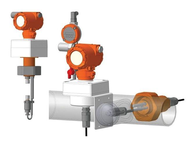 Потоковый измеритель плотности газа, модификация UDM-I при цельном исполнении ПП и ЭБ и раздельном