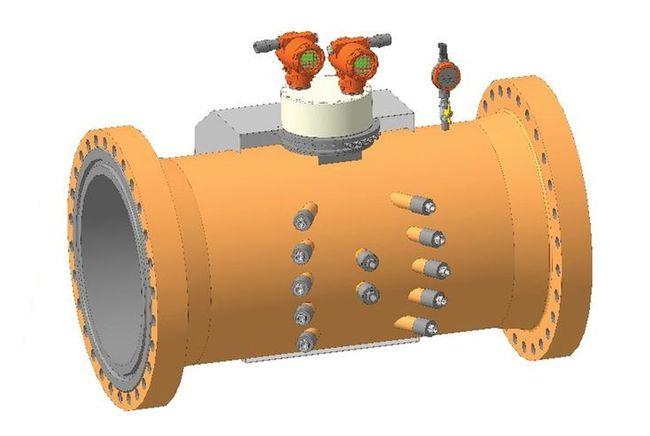 Расходомер газа Turbo Flow UFG с дублированием и дополнительными лучами коррекции расхода на скорость звука производства  ООО НПО «Турбулентность-ДОН»