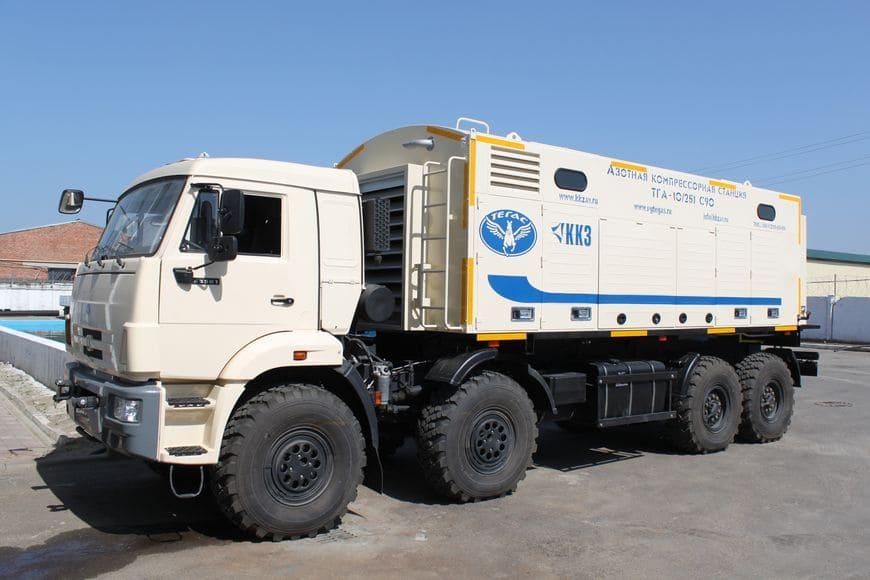 Азотная компрессорная станция ТГА-10/251 С90, адаптированная для эксплуатации в условиях степей Казахстана