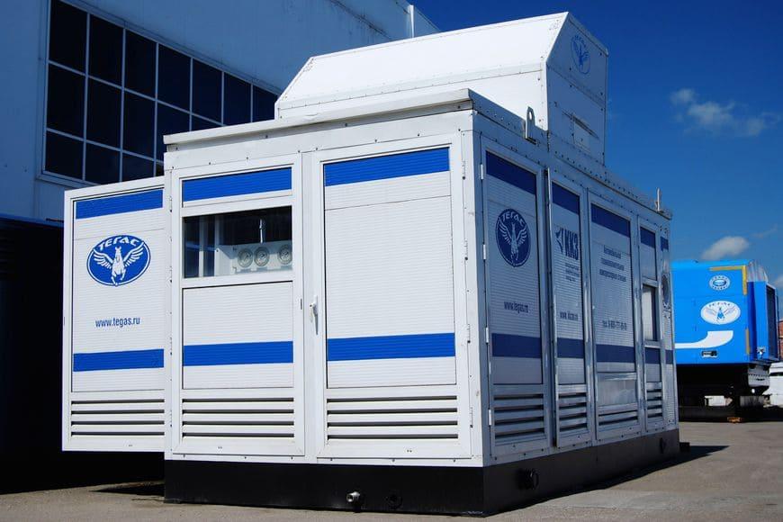 Автомобильная газонаполнительная компрессорная станция «ТЕГАС» модели АГНКС-860 готовая к отгрузке