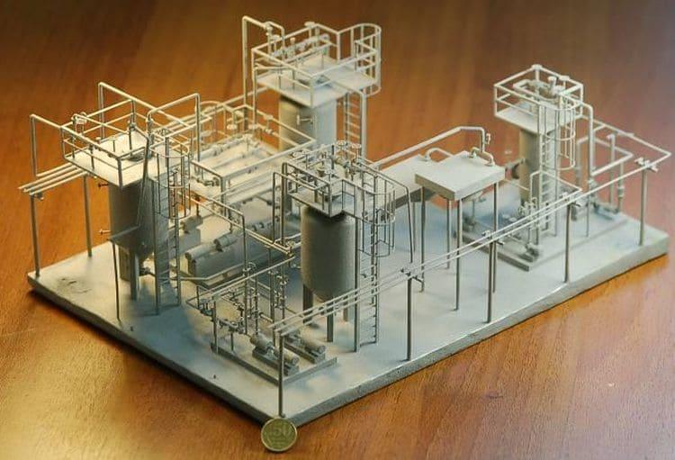Макет кавитационного модуля термоконверсии и термополиконденсации мазута малого интегрированного НПЗ