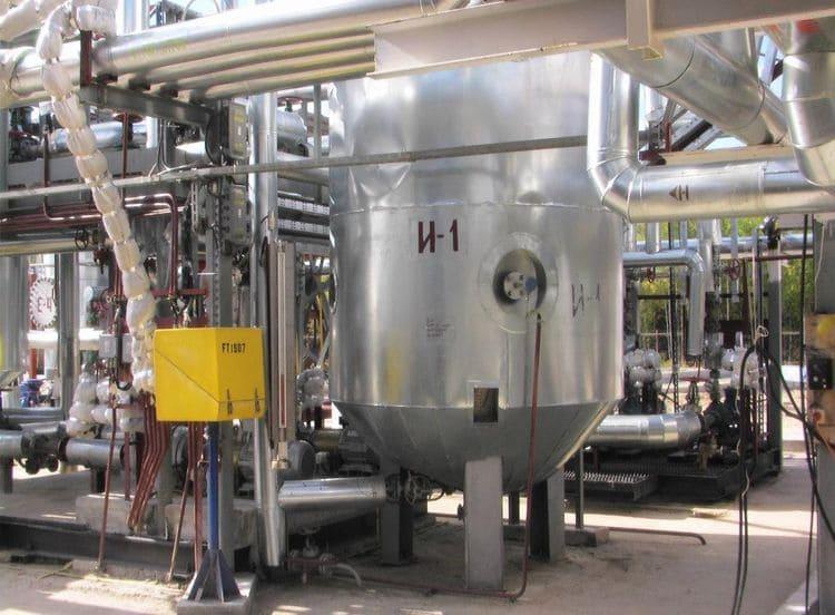 Реактор кавитационного термолиза мазута малого НПЗ