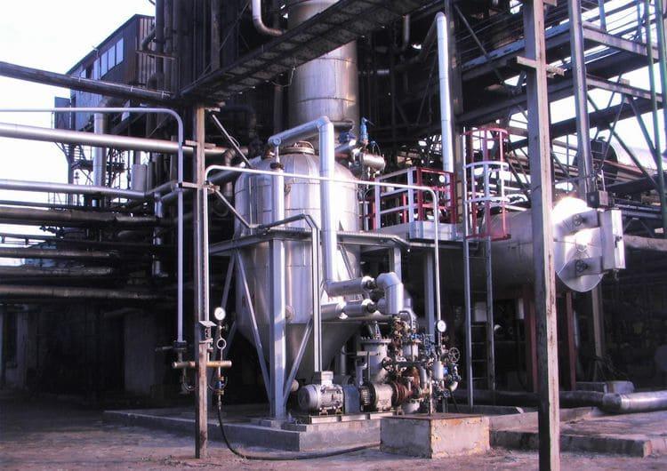 Модернизация АВТ привязкой к кубу атмосферной колонны насоса-кавитатора и реактора термолиза мазута