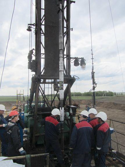 Бригада ТМК НГС-Бузулук проводит подготовку скважины к гидроразрыву пласта