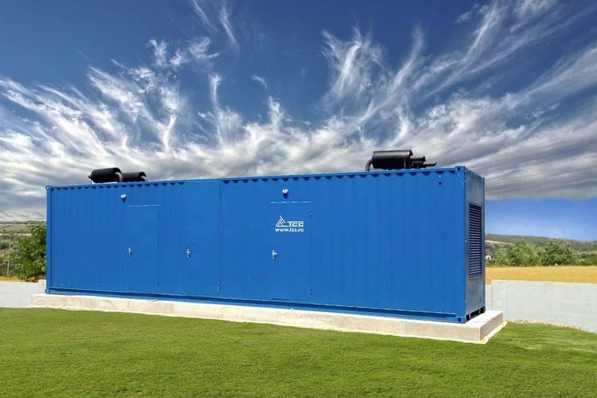 Энергокомплекс 1000 кВт в блок-контейнере УБК-12 с дополнительным отсеком