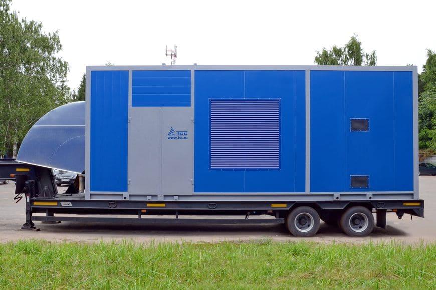 Мобильный энергокомплекс 1200 кВт в контейнере ПБК-7 с дополнительным отсеком для топливных баков