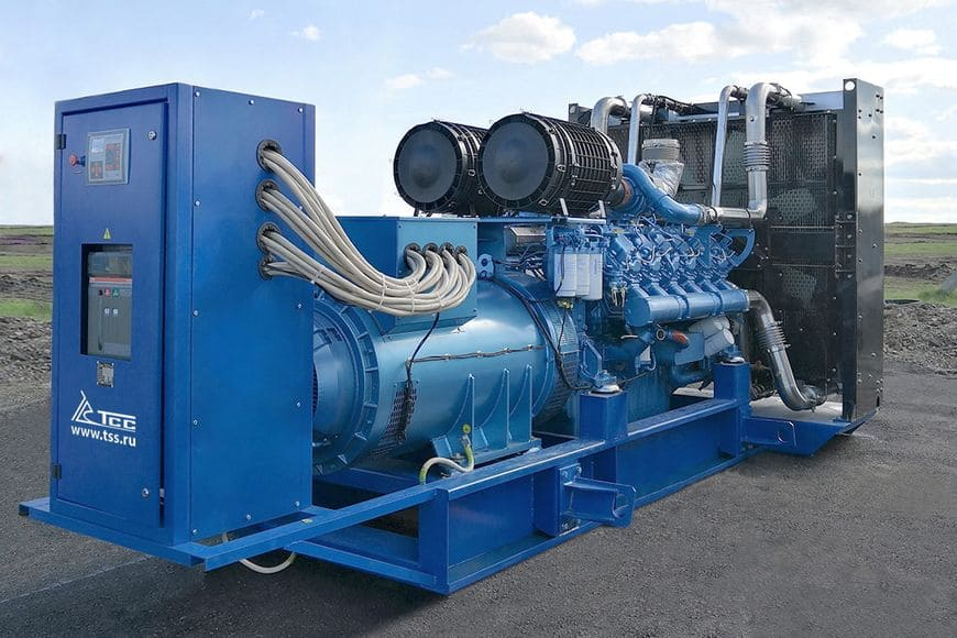 Один из вариантов исполнения дизель-генераторных установок ТСС – на открытой раме