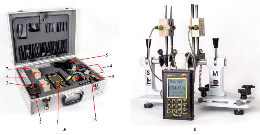 Комплектация (а) и внешний вид (б) лазерной системы центровки КВАНТ-Л-II