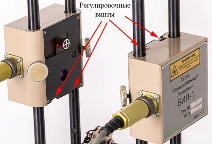 Настройка лазерных излучателей