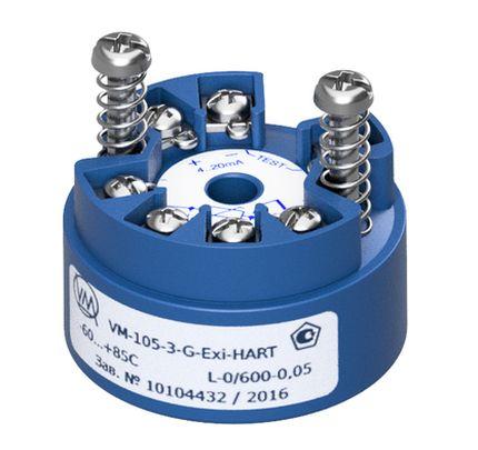 Преобразователи измерительные исполнений VM-103-3-HART, VM-103-4-HART, VM-104-3-G-HART, VM-104-4-G-HART, VM-Exi-105-3-G-HART, VM-Exi-105-4-G-HART